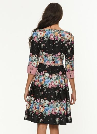 Çiçekli Kloş Elbise-Jus De Pommes